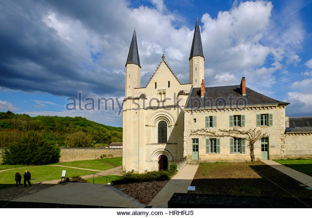 Abbey of Fontevraud, dating from the 12th to 17th centuries, Maine et Loire, Loire Valley, France - Stock-Bilder