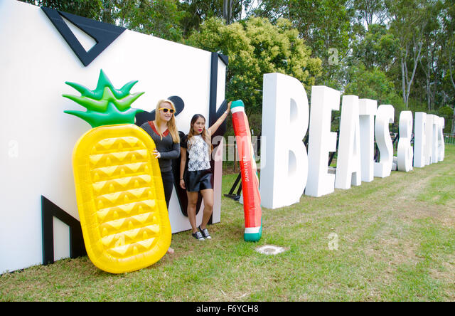 Sydney, Australia. 21st November, 2015. MTV Beats and Eats Music Festival logo display. The festival took place - Stock Image