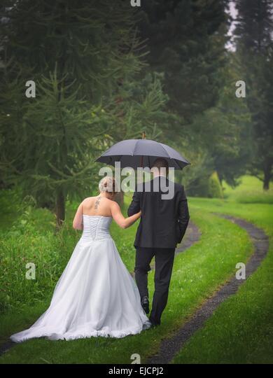 The newlyweds - Stock Image