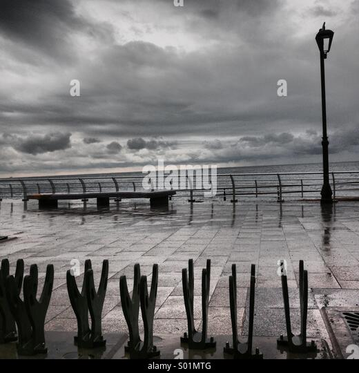 Upside banks on the coast seashore of Beirut - Lebanon Middle East - Stock Image
