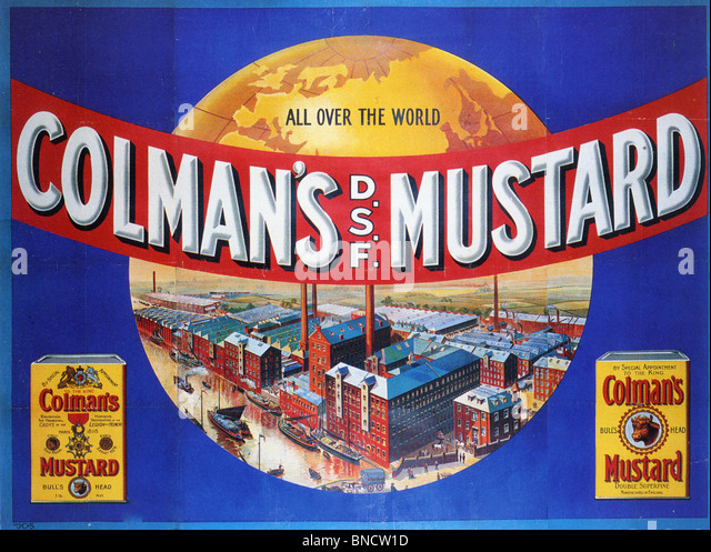 COLMAN'S MUSTARD ADVERTISING POSTER about 1920 - Stock Image
