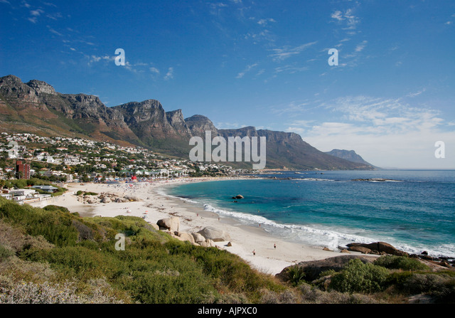 south africa cape town camps bay beach twelve apostel  - Stock Image