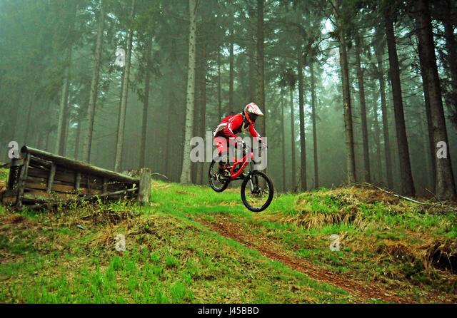 Bikepark Silbersattel, Thüringer Wald, Deutschland - Stock-Bilder