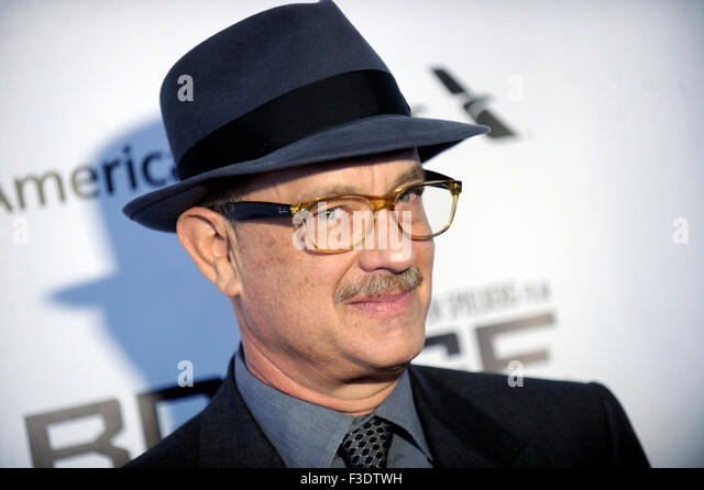 Tom Hanks at the Premiere of 'Bridge of Spies' at the 53rd New York Film Festival. New York 4th October - Stock Image