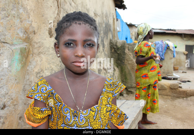 Young Gonja Girl Of the Guan Ethnic Group, Ghana - Stock Image