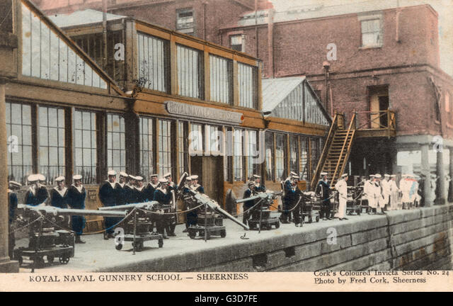 Royal Naval Gunnery School - Sheerness, Kent     Date: circa 1910s - Stock Image