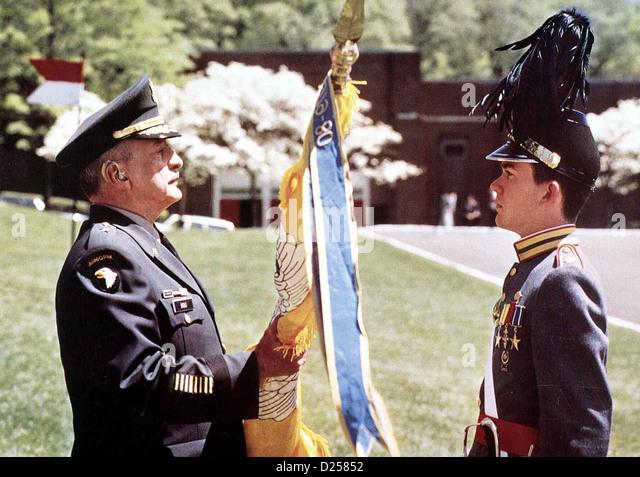 Die Kadetten Von Bunker Hill  Taps  George C. Scott, Timothy Hutton Als Brian Moreland (Timothy Hutton,r) eine Revolte - Stock Image