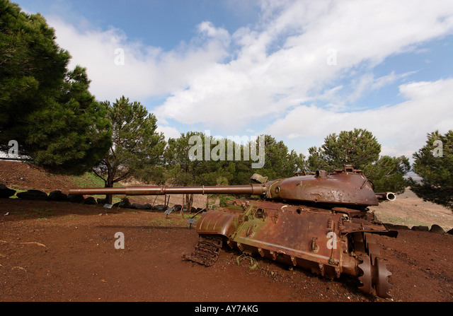 The Golan Heights Memorial to the fallen soldiers of the 77th battalion in the Yom Kippur war - Stock Image