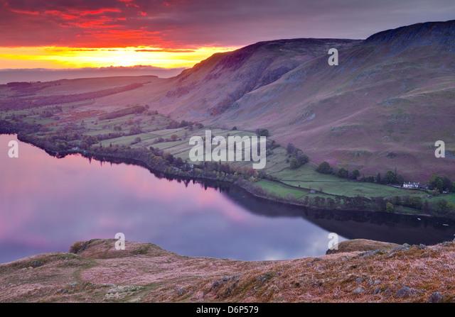 Ullswater in the Lake District National Park, Cumbria, England, United Kingdom, Europe - Stock-Bilder