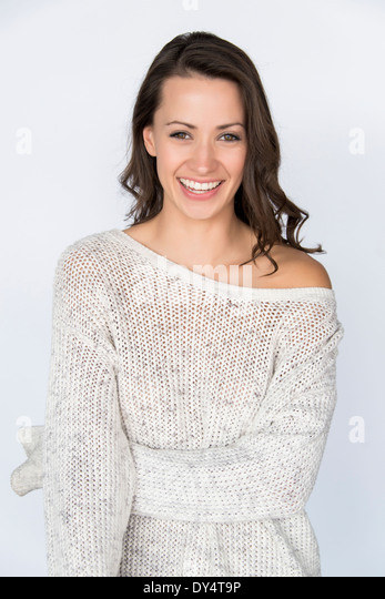 Portrait of Woman Smiling - Stock Image