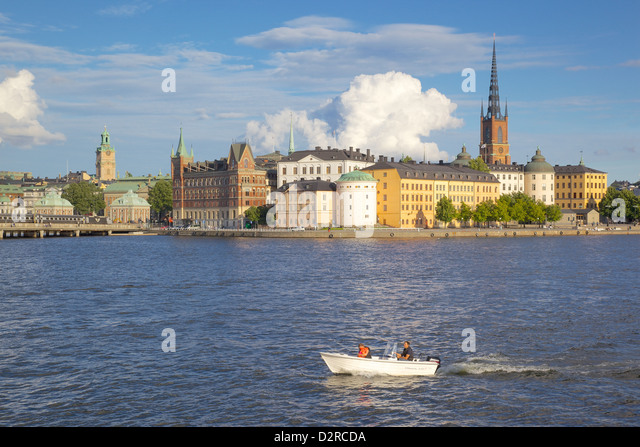 City skyline from City Hall, Stockholm, Sweden, Europe - Stock Image
