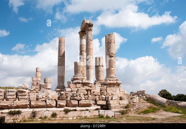 Jordan, Amman. The Roman citadel - Stock Image