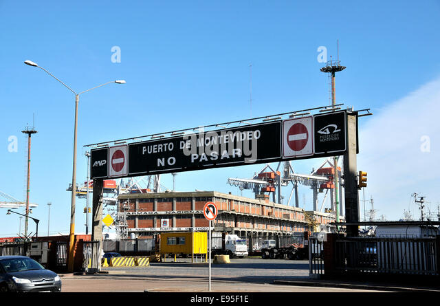 Port Montevideo Uruguay - Stock Image