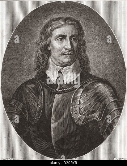 Oliver Cromwell, 1599 –1658. English military and political leader and later Lord Protector of the Commonwealth - Stock Image