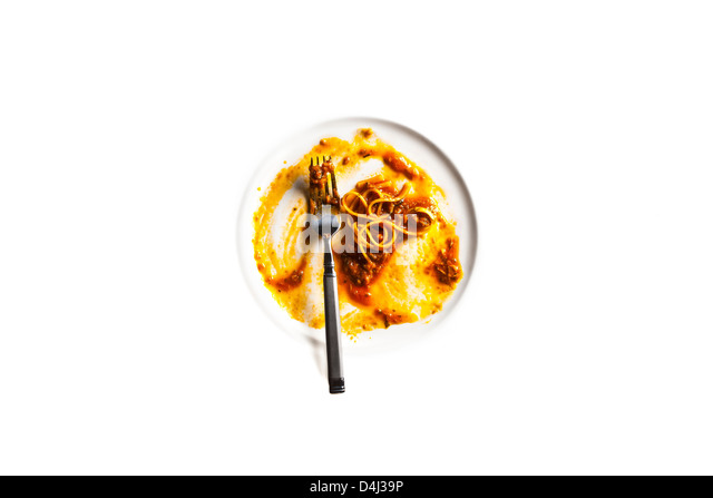 Linguine with Tuna and Anchovie sauce. - Stock Image