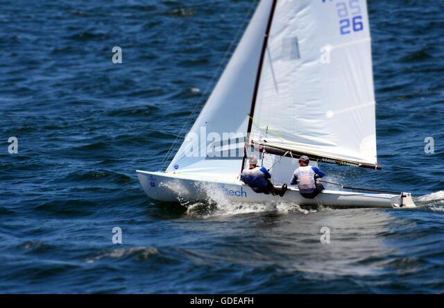 Sydney, Australia - Jan 8, 2015: The silver medallist team from Netherlands (NED26: KRAMER, Enno and GEELKERKEN, - Stock Image