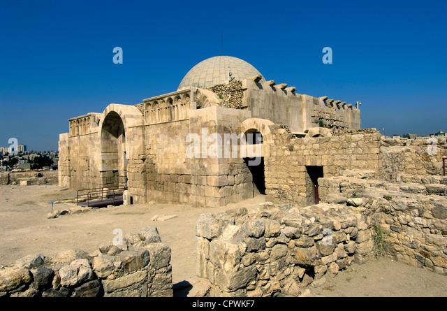 Asia Jordan Amman Citadel - Stock Image