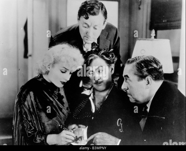 TWENTIETH CENTURY  1934 Columbia film with Carole Lombard and John Barrymore lower centre - Stock Image