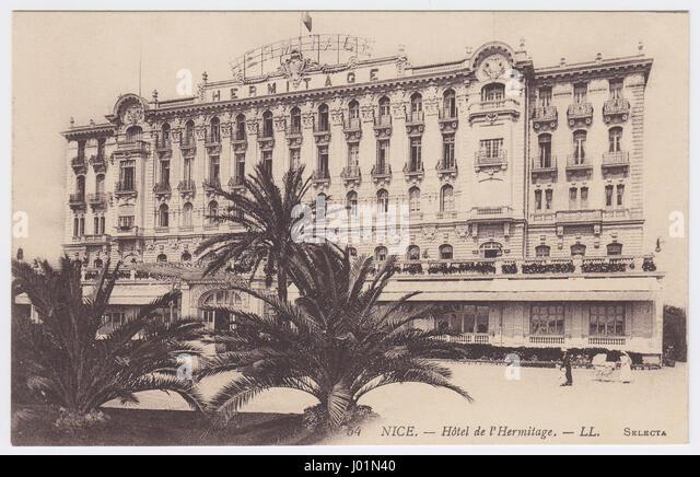 Hotel Hermitage, Nice, France - Stock Image
