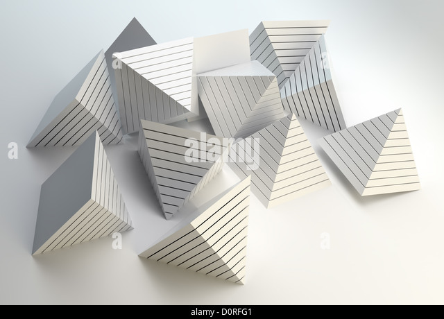3D pyramids abstract - Stock Image