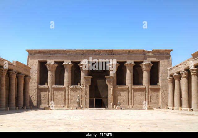 Temple of Edfu, Egypt, Africa - Stock Image