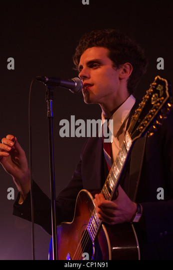 Charlie Fink of Noah and The Whale live at The Plymouth Pavilions, Devon, UK. - Stock Image