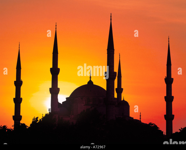 Sultan Ahmet Camii Mosque Blue Mosque in Istanbul Turkey - Stock Image