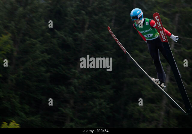 Courchevel, France. 13th Aug, 2015. Ski Jumping World Cup, Grand Prix Men, 5th Grand Prix Competition, Courchevel - Stock Image
