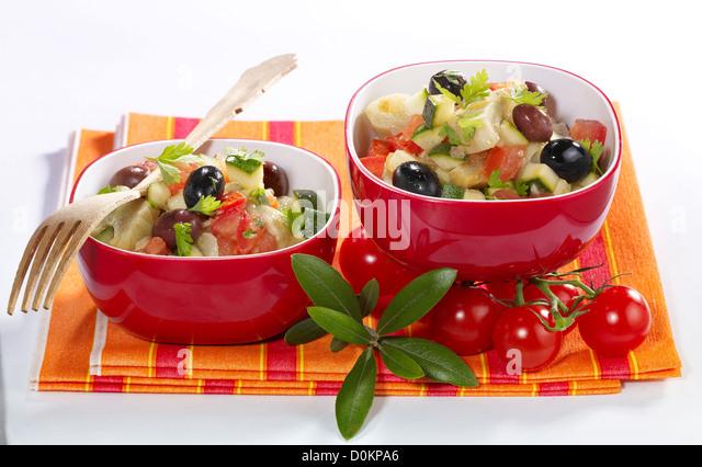 Nioise artichoke hearts - Stock Image