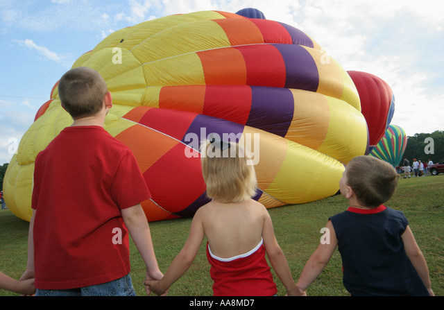 Alabama Decatur Alabama Jubilee Hot Air Balloon Classic children watch - Stock Image