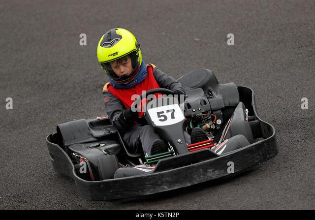 Thruxton Go Karting >> Drive A Go Kart Stock Photos & Drive A Go Kart Stock Images - Alamy