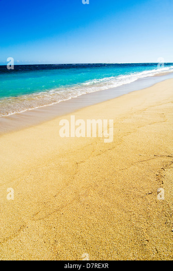 Lonely Beach on Mauritius - Stock Image