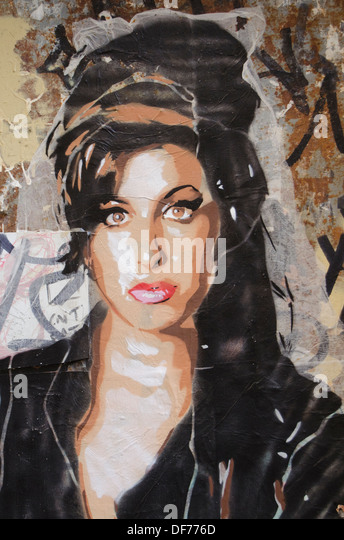 Spain,Barcelona,Graffiti in Gracia town - Stock Image