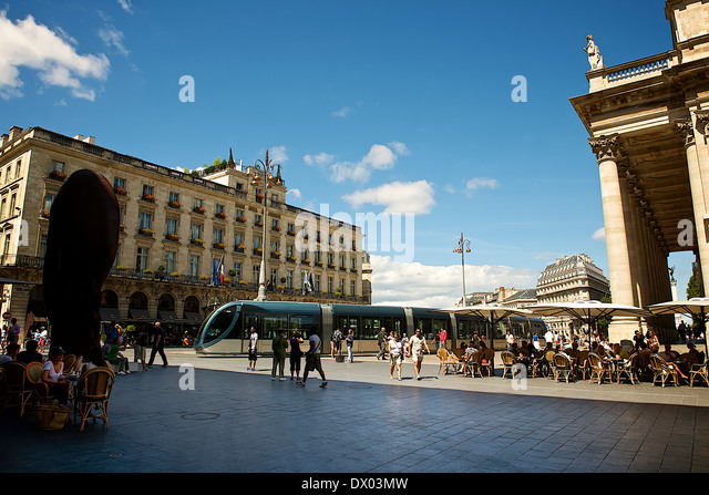 Comedy square in Bordeaux, France - Stock Image