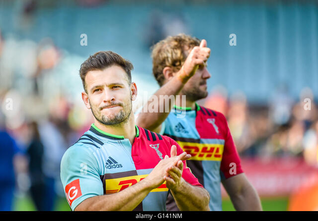 London, UK. 7th May, 2016. Harlequins  player - Danny Care was greeting the home crowds at the Aviva Premiership - Stock Image