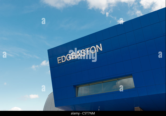 The recently developed Edgbaston Cricket Ground - Stock Image