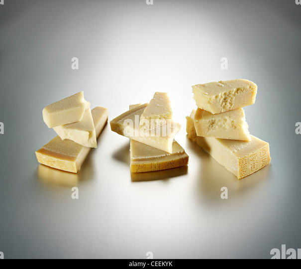 selection of Parmigiano cheese - Stock Image