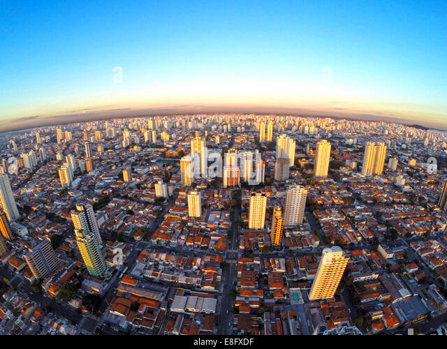 Brazil, Cityscape of south side of Sao Paulo city - Stock Image