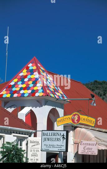 St Maarten Shopping Arcade Philipsburg - Stock Image