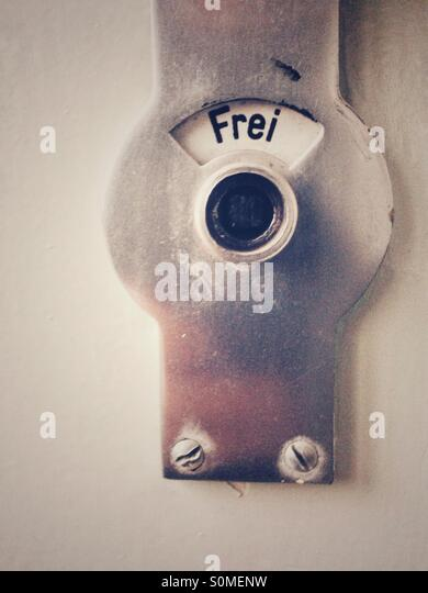 Bathroom door locked stock photos bathroom door locked for Door lock germany
