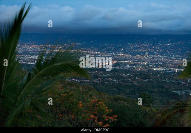 San Jose Costa Rica at night - Stock Image