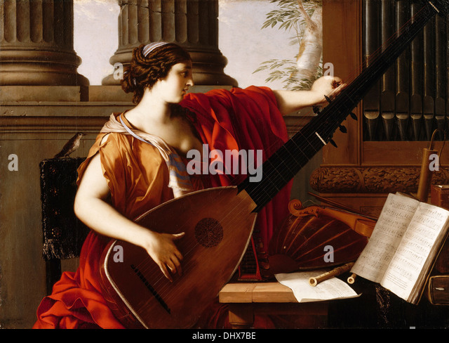 Allegory of Music - by Laurent de La Hyre, 1649 - Stock-Bilder