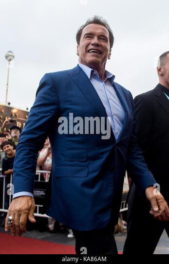 San Sebastian, Spain. 25th Sep, 2017. Actor Arnold Schwarzenegger at the red carpet of 'Wonders of the sea 3D' - Stock Image
