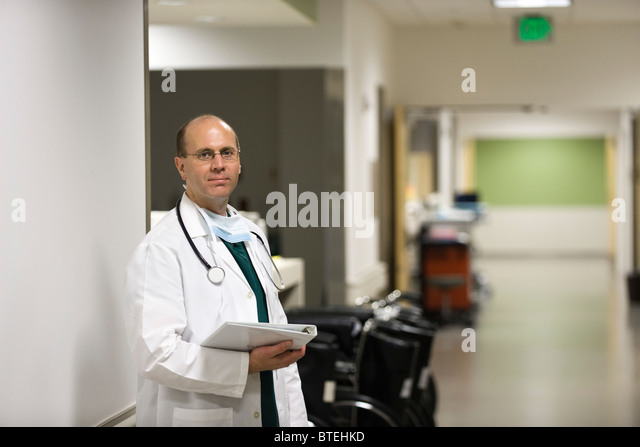 Doctor, portrait - Stock Image