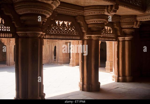 Entrance hall in man mandir palace ; Gwalior ; Madhya Pradesh ; India - Stock Image