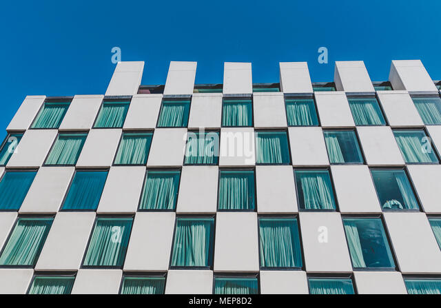 DUBLIN, IRELAND - April 21st, 2018: the luxury Marker Hotel in the renovated Docklands area of Dublin city centre shot on a sunny day - Stock Image