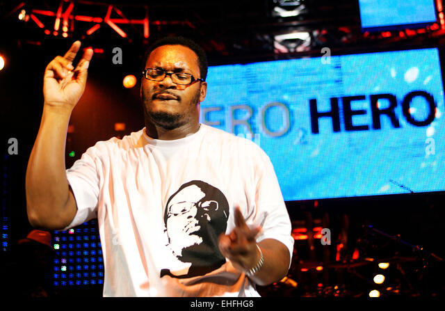MC Ty live at Hero2Hero gig at the Shepherds Bush Empire London. - Stock Image