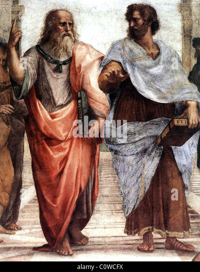 Plato (left) and Aristotle. - Stock-Bilder