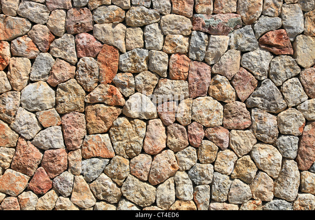 Abstract image of a brightly lit stone wall, these images are perfect for great textures and backgrounds - Stock-Bilder