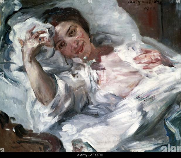 'fine arts, Corinth, Lovis, (1858 - 1925), painting, 'Morgensonne', ('morning sun'), 1910, oil - Stock Image